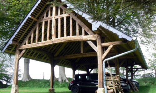 charretterie garage en chêne