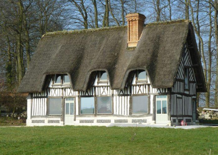 construction en matériaux anciens en Normandie