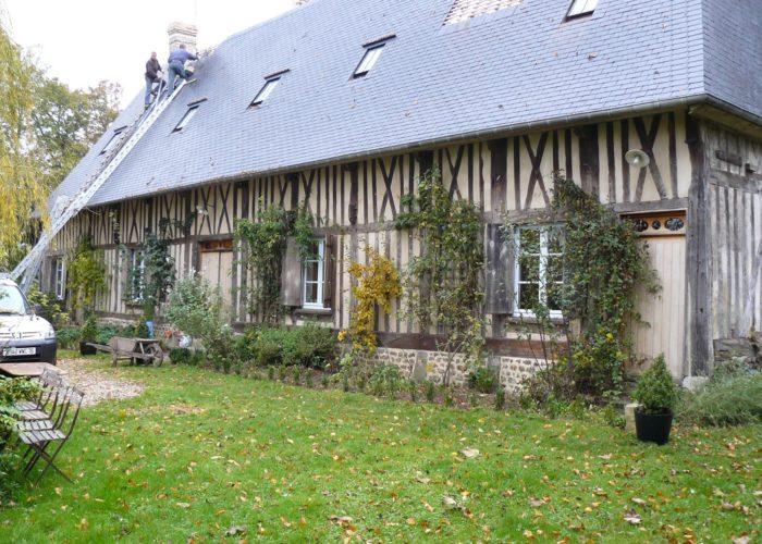 Rénovation d'une longère cauchoise en Normandie