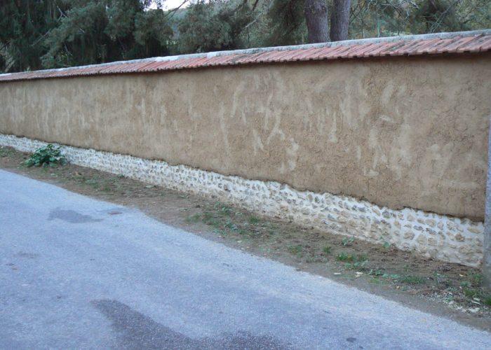 Mur en bauge normandie