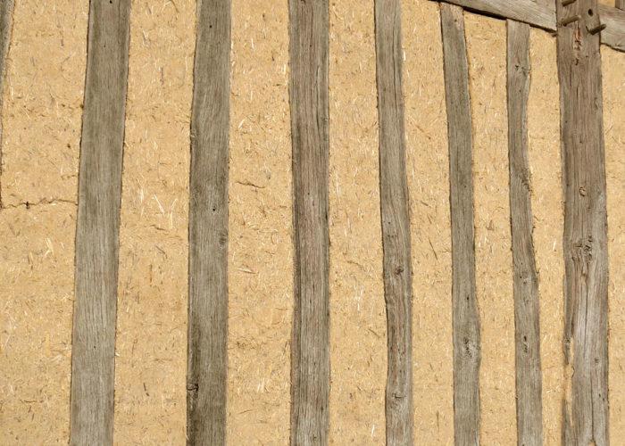 Mur de colombages en torchis Normandie