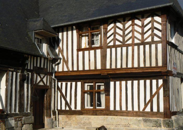 Manoir en colombages en Normandie