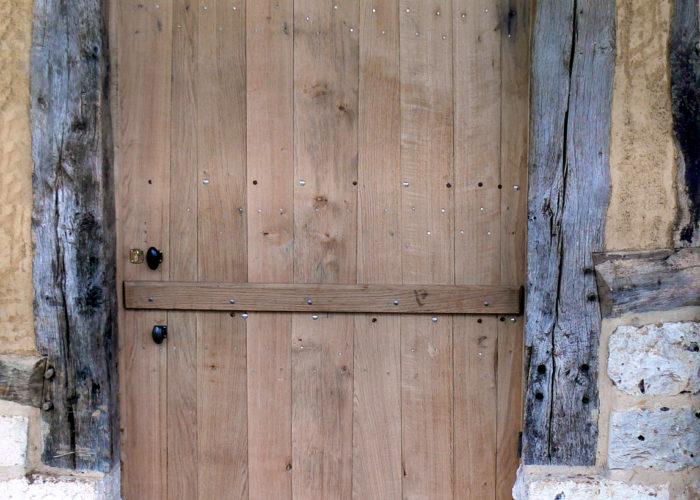Porte rustique chêne en Normandie
