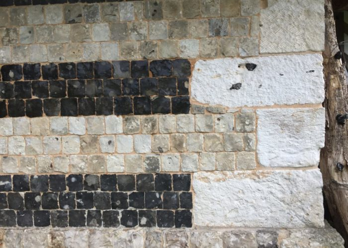 Maçonnerie de silex et pierre Normandie