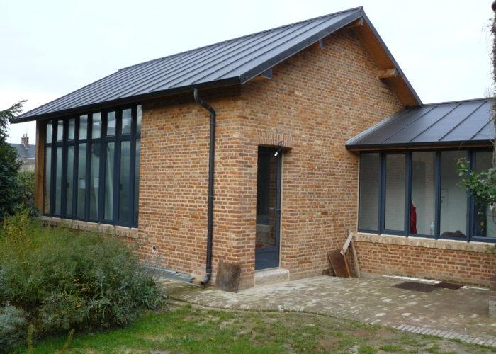 Agrandissement de maison en brique ancienne Normandie