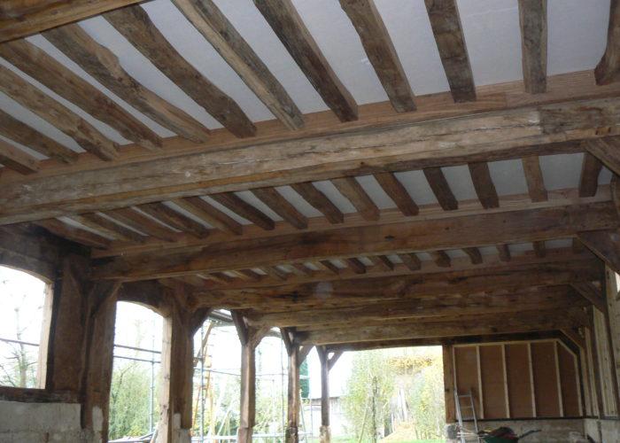 Solivage en chêne ancien Normandie