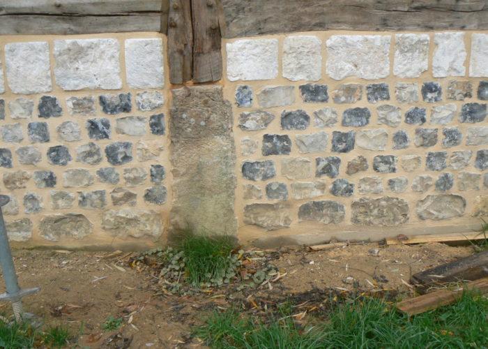 Maçonnerie de pierre et silex à la chaux Normandie