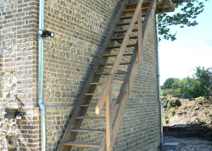 Escalier extérieur en chêne