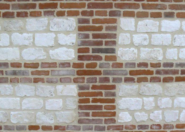 Mur maçonné à la chaux