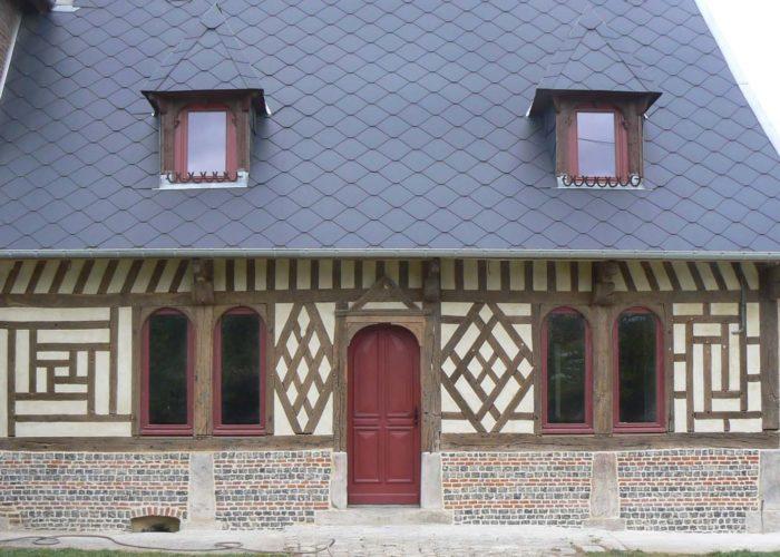 Restauration d'un manoir du16ème siècle en colombages